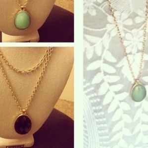 Stella And Dot Reversible necklace and earrings